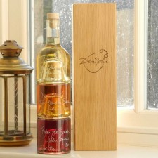 Whisky Tower Oak Gift Set