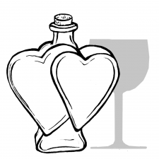 Heart Shaped 500ml Bottle