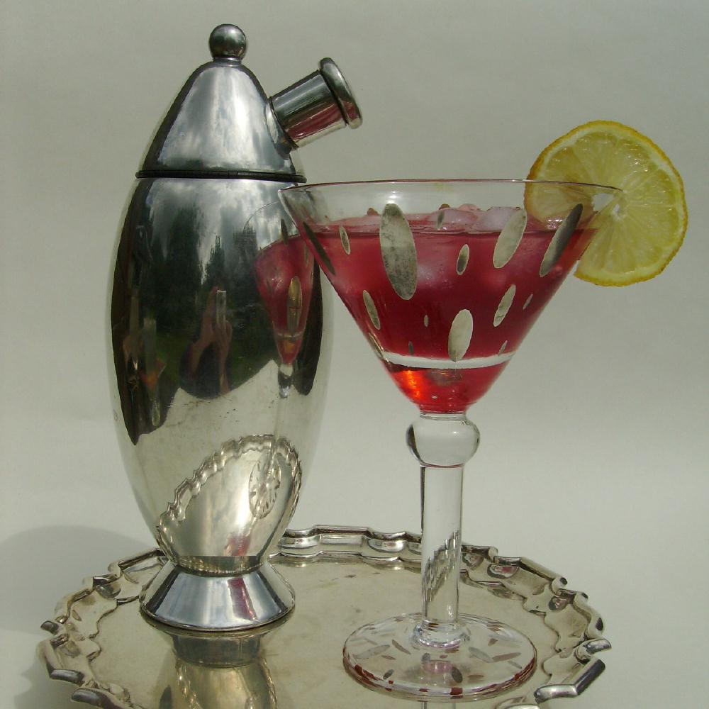 Raspberry Vodka Martini Cocktail