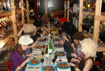 Our Staff Christmas Party in Glasgow, Feb 2011, with extra hair!