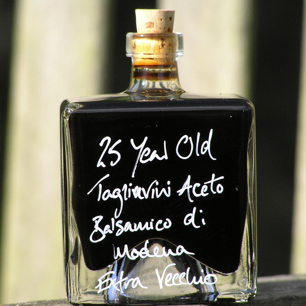25 year old Tagliavini Aceto Balsamico di Modena Extra Vecchio in a Mystic 100ml stacking bottle
