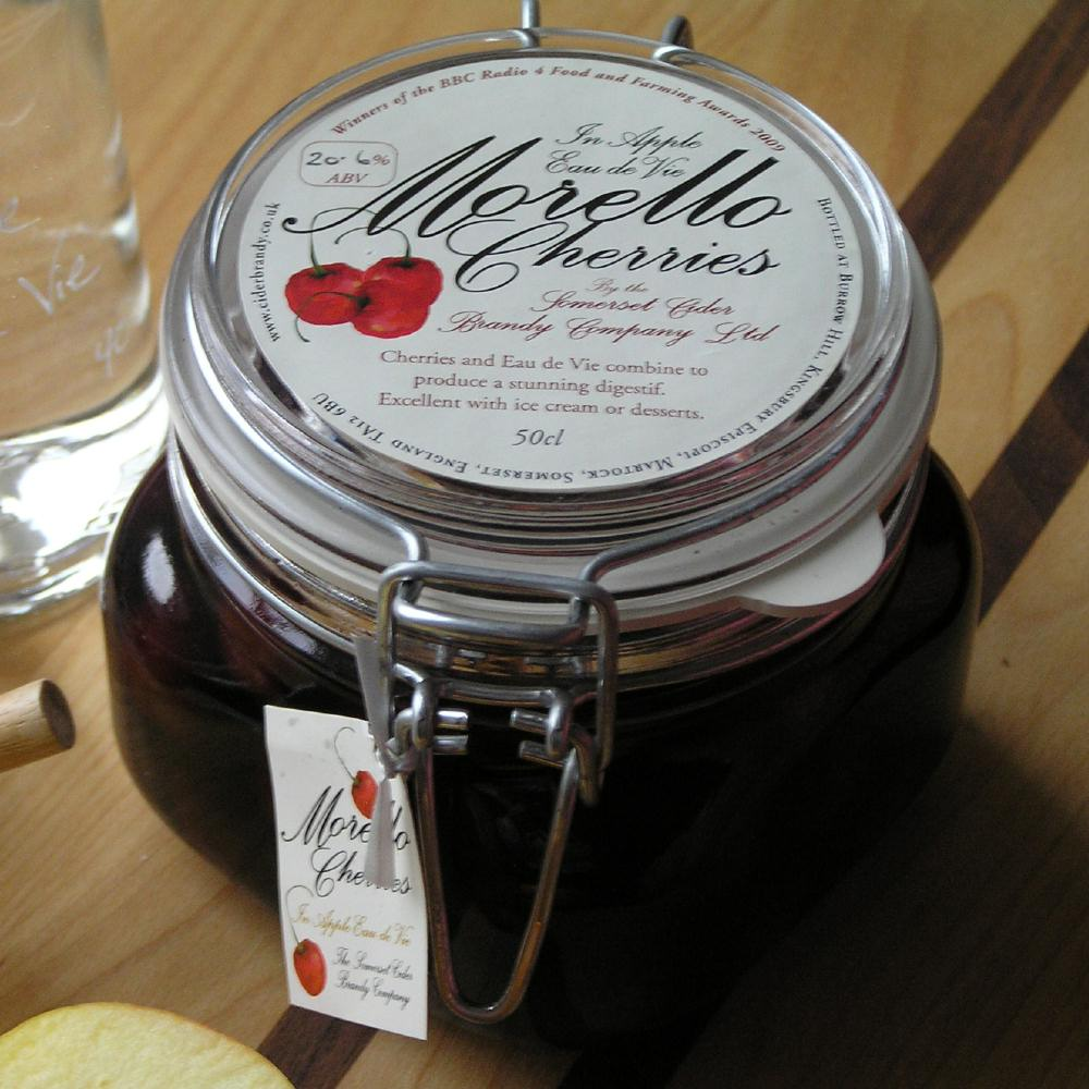 Morello Cherries in Apple Eau de Vie 20%