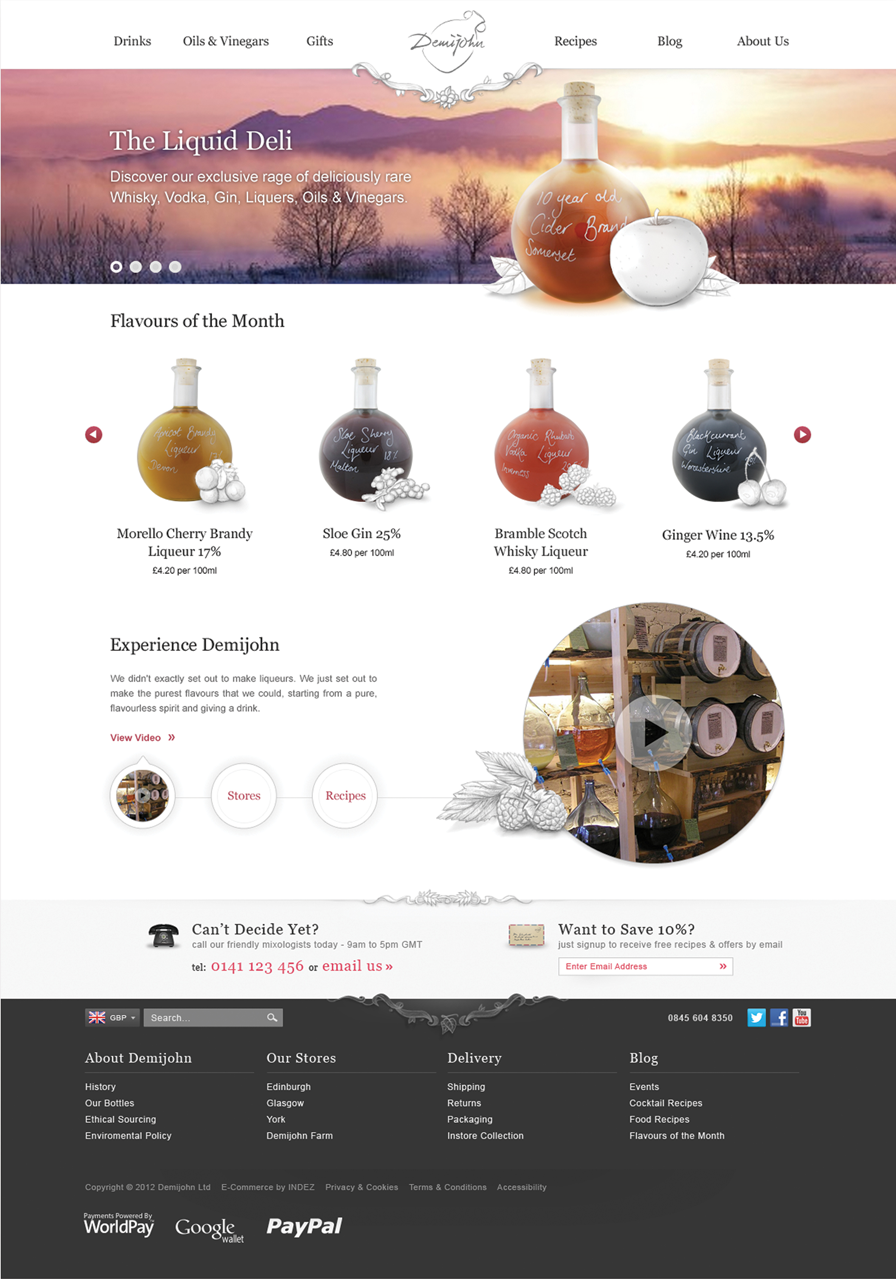 The new Demijohn Homepage