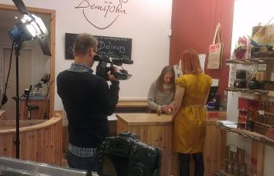 Demijohn - Filming at the shop