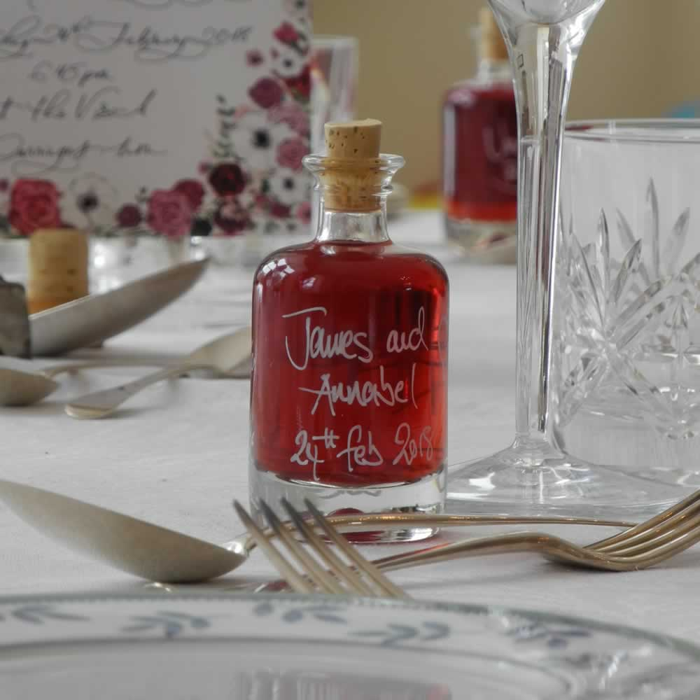 Our 40ml Apotheker miniature bottles can make wonderful wedding favours for your guests