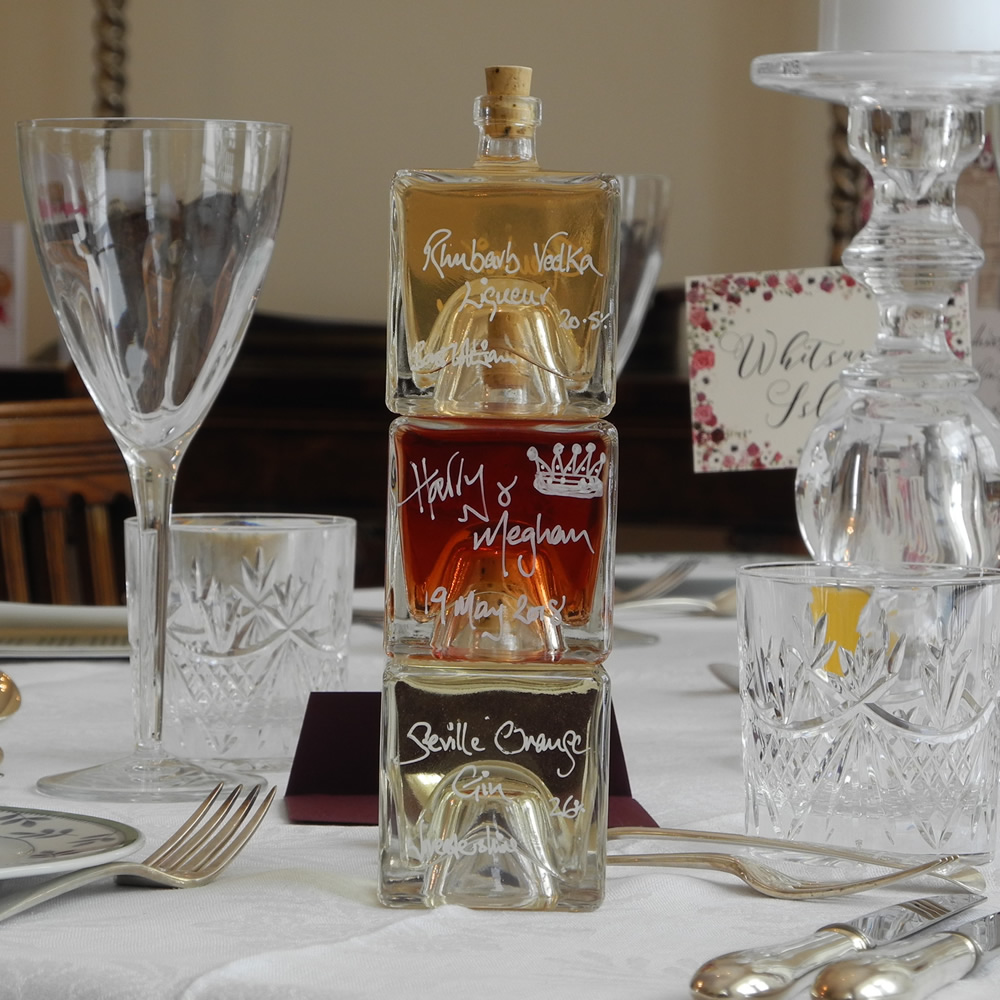 Our Mystic 100ml stacking bottle make beautiful liqueur wedding favours or gifts