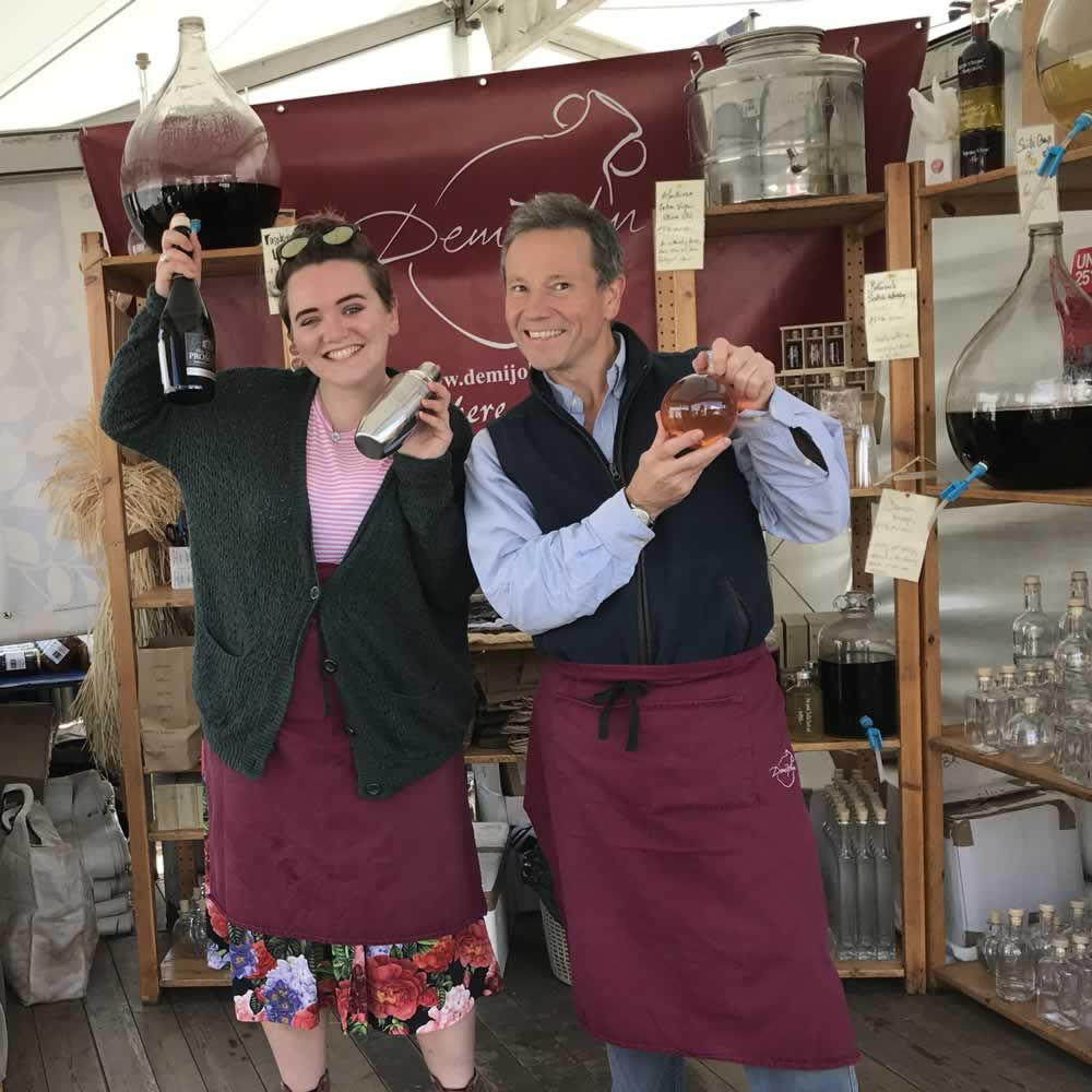 Angus and Eilidh shaking up a Burghley Bounder Cocktail at Burghley Horse Trials 2018!