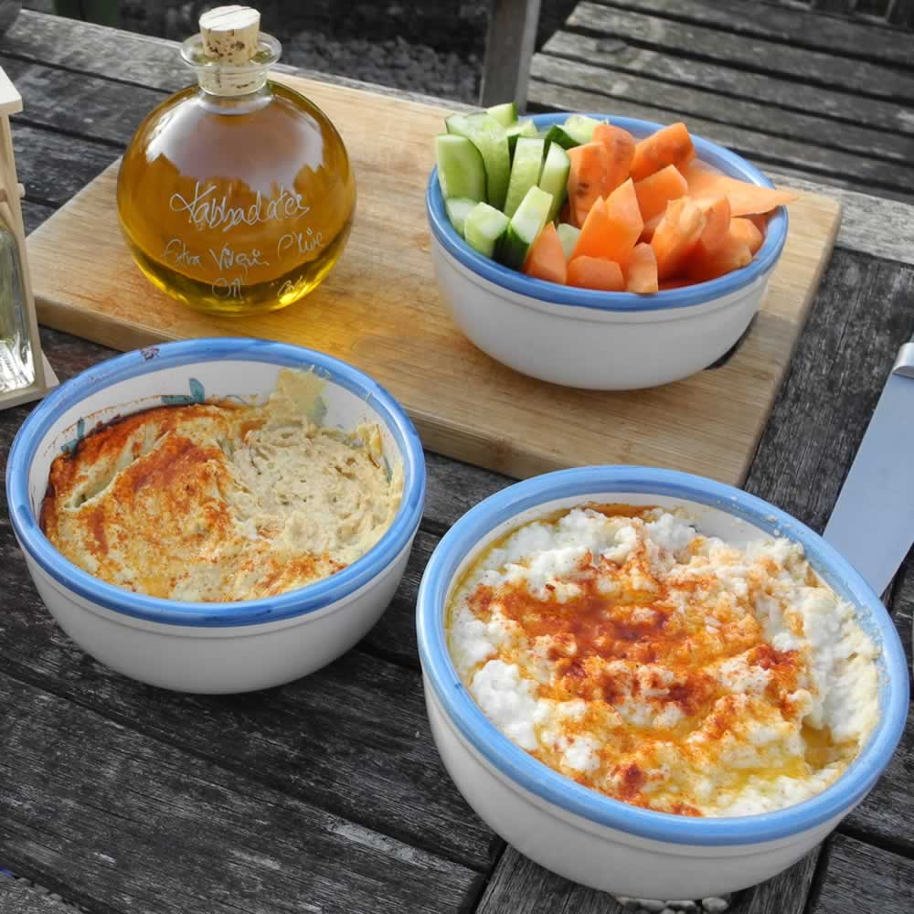 Cauliflower Hummus and our Original Hummus recipes make delicious healthy dips for all the family