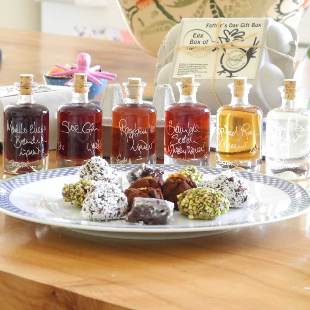 Boozy Truffles are made using 6 of our favourite liqueurs