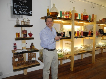 Angus Ferguson in his new Oxford Shop