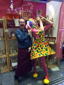 Mark clowning about at Living North Spring Fair in York!