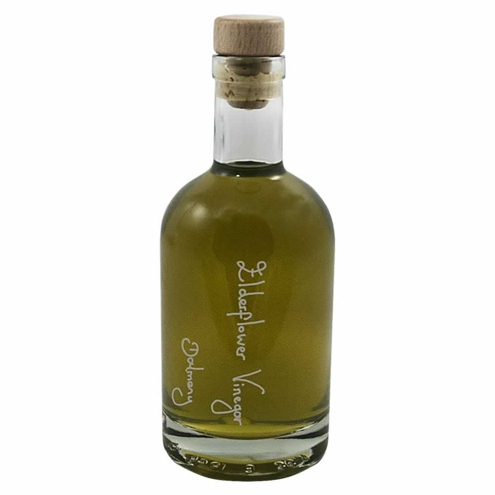 Our new Nocturne 350ml bottle filled with Elderflower Vinegar